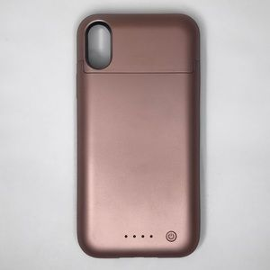 Rose Gold iPhone X Charging Case